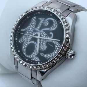 Fossil Women Watch Crystal Accent Black Face 5ATM